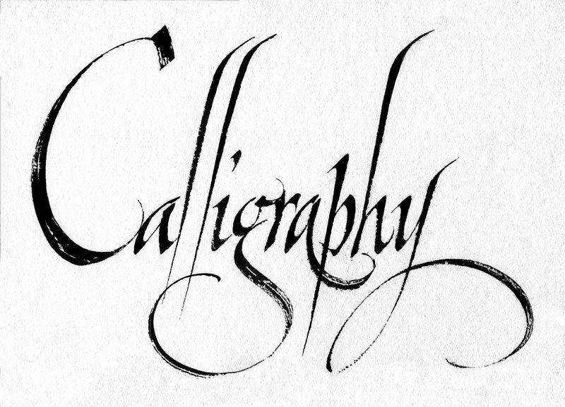 calligraphyと大きくカリグラフィーで書かれた文字の画像