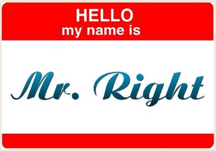 Hello my name is Mr. Rightと書かれたバナー画像