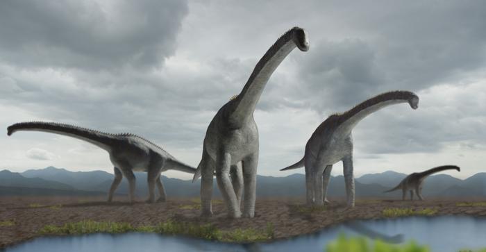 ブラキオサウルスのイラスト画像