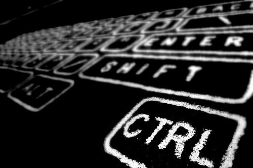 ctrl shift enterのキーボードの画像