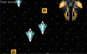 JavaScriptなしのシューティングゲームの画像