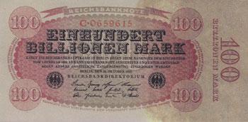 100兆マルク紙幣