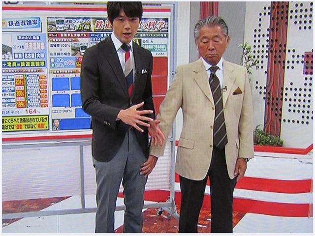 みのもんたが番組中に男性アナウンサーの太ももを触っているセクハラ疑惑の画像