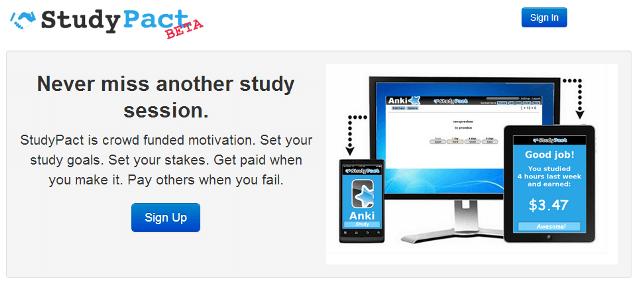 終了したサービスStudyPactのTOP画像