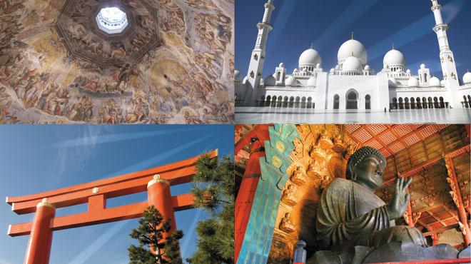 さまざまな宗教を代表する写真