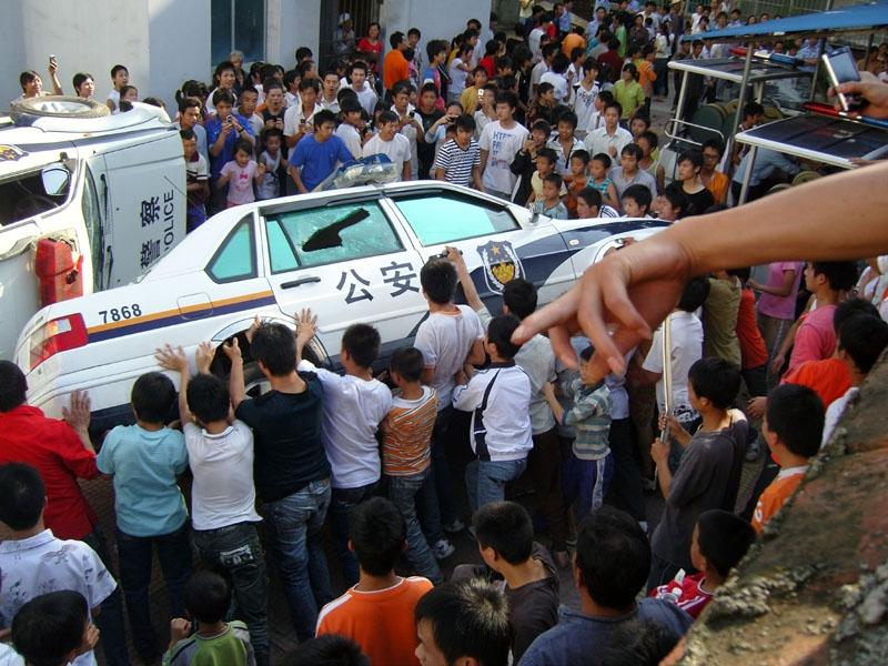 中国の群体性事件の画像