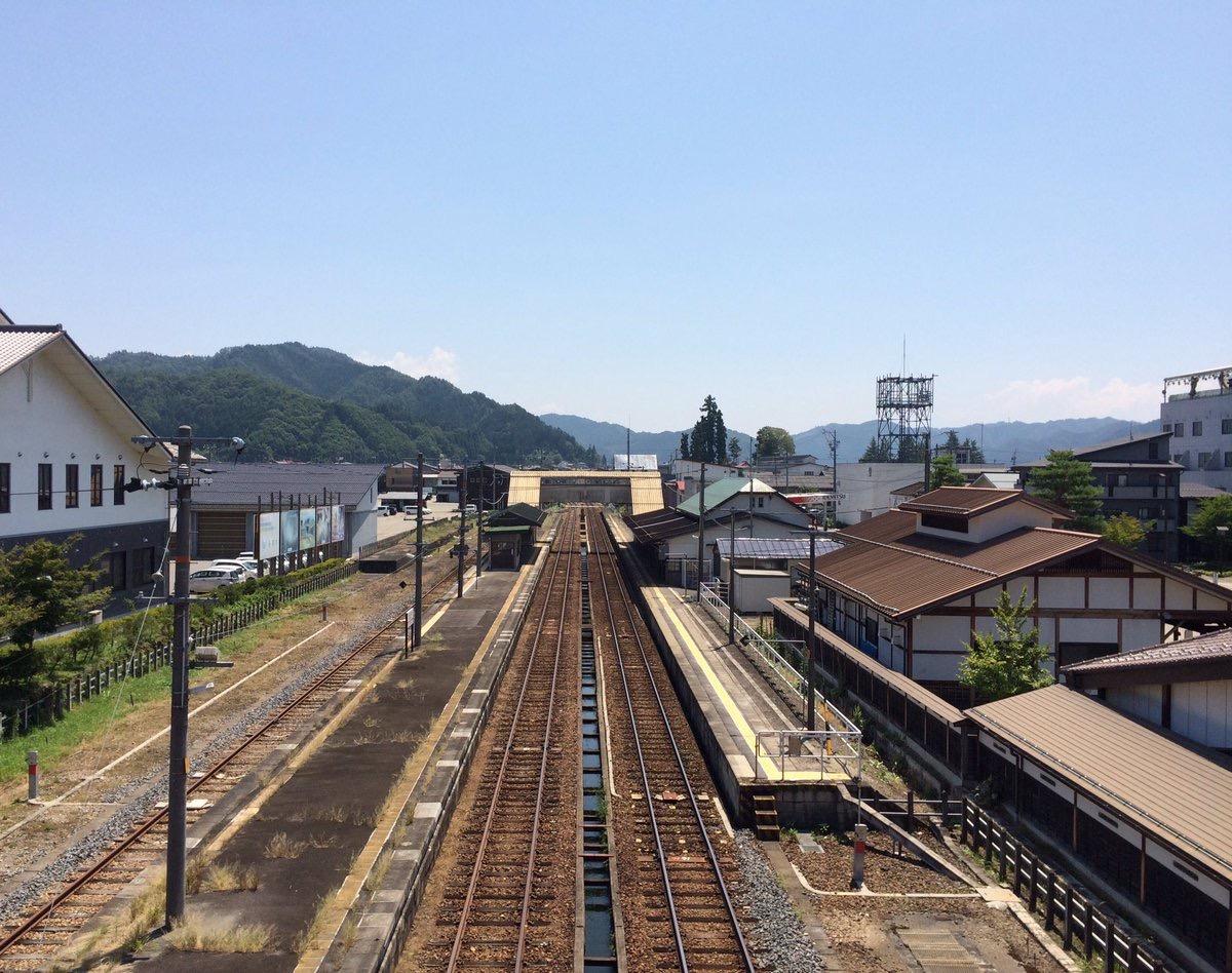 聖地巡礼地の線路の画像