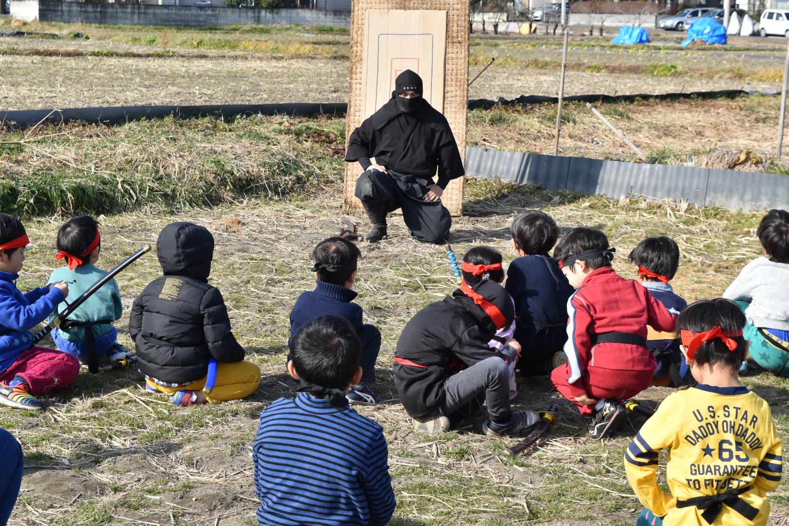 忍者修行イベントの実際の写真