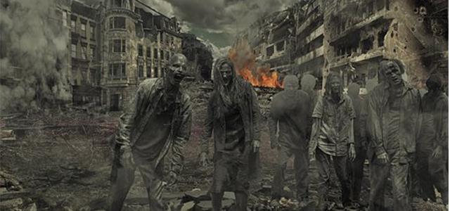 ゾンビだらけになったある都市の荒廃した風景
