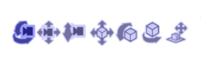 3D素材のアングルを変更する操作のアイコン画像