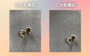 日の丸構図と三分割構図を比較した画像
