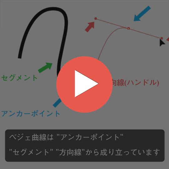 90秒で分かるベジェ曲線の基本的な描き方のスナックコース画像
