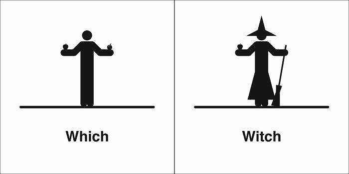 Homophones 同音異義語 - Which と Witch