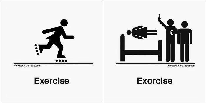 Homophones 同音異義語 - Exercise と Exorcise